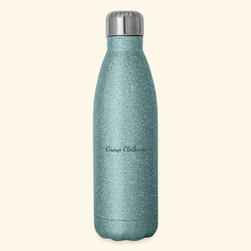 Cursive Black and White Hoodie - Insulated Stainless Steel Water Bottle