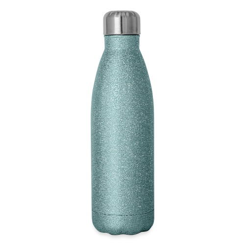 I Heart Small Business Logo (All White) - Insulated Stainless Steel Water Bottle
