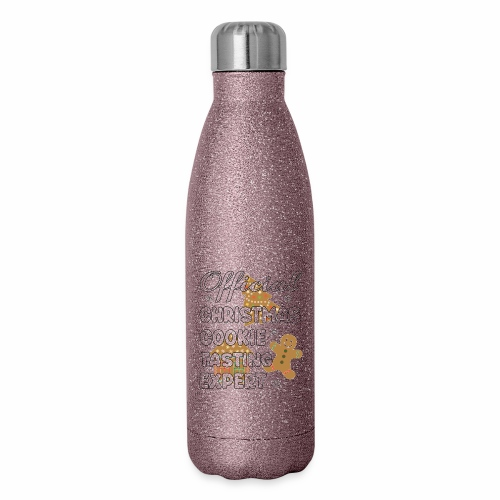 Funny Official Christmas Cookie Tasting Expert. - Insulated Stainless Steel Water Bottle