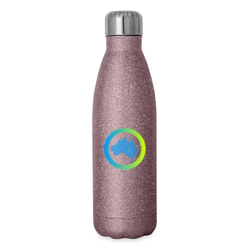 Gradient Symbol Only - Insulated Stainless Steel Water Bottle