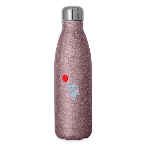 Baby Elephant Holding A Balloon - Insulated Stainless Steel Water Bottle