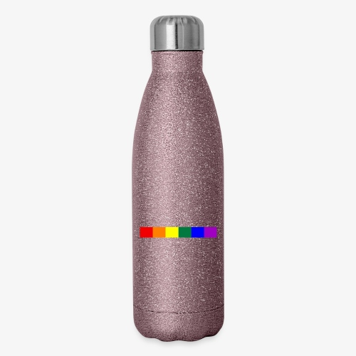 Vertical Pride with LGBTQ Pride Flag - Insulated Stainless Steel Water Bottle