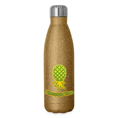 Swingers - Pineapple Time - Transparent Background - Insulated Stainless Steel Water Bottle