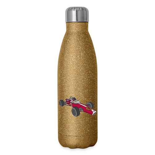 Red racing car, racecar, sportscar - Insulated Stainless Steel Water Bottle