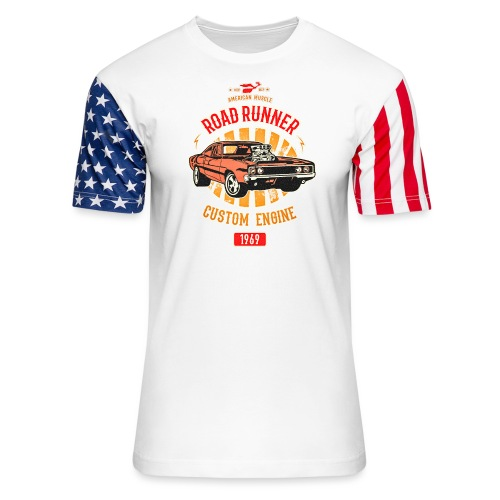 Plymouth Road Runner - American Muscle - Unisex Stars & Stripes T-Shirt