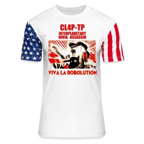 Claptrap Viva la Robolution - Unisex Stars & Stripes T-Shirt