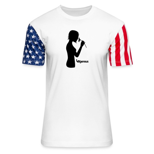 flower girl - Unisex Stars & Stripes T-Shirt