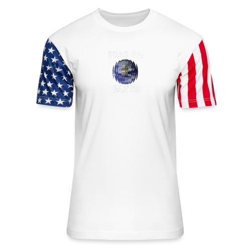 Peas on Earth! - Unisex Stars & Stripes T-Shirt