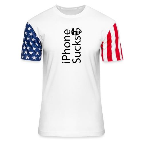 iPhone Sucks - Unisex Stars & Stripes T-Shirt
