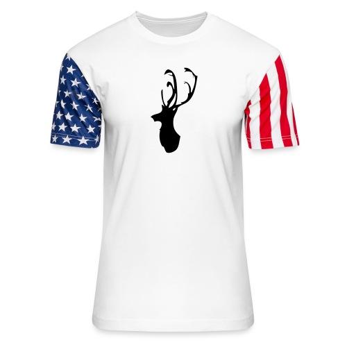 Mesanbrau Stag logo - Unisex Stars & Stripes T-Shirt