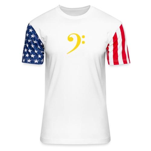 Bass Clef - Unisex Stars & Stripes T-Shirt
