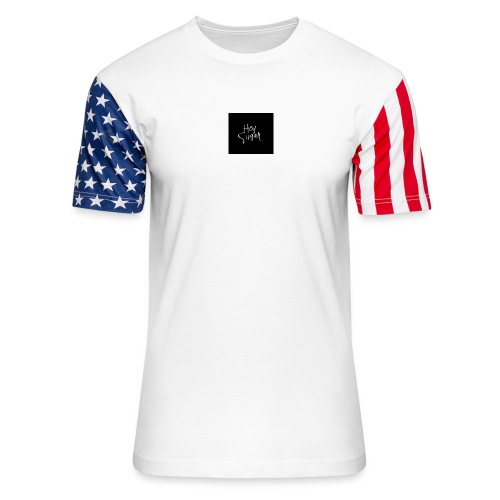 Hey Sügar. By Alüong Mangar - Unisex Stars & Stripes T-Shirt