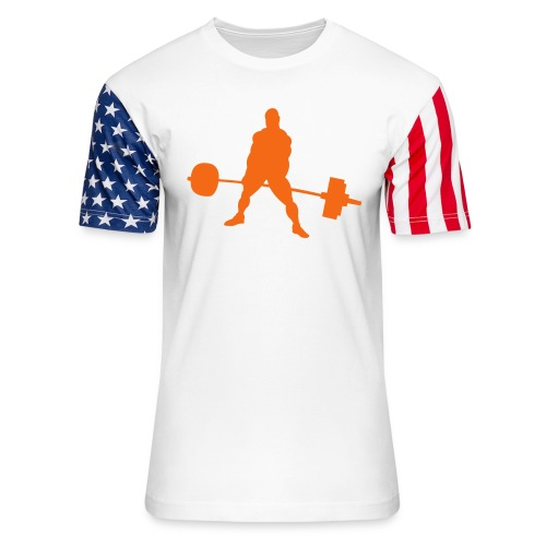 Powerlifting - Unisex Stars & Stripes T-Shirt