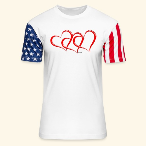 3hrts - Unisex Stars & Stripes T-Shirt