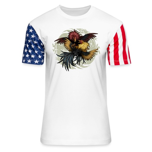 Ying Yang Gallos by Rollinlow - Unisex Stars & Stripes T-Shirt