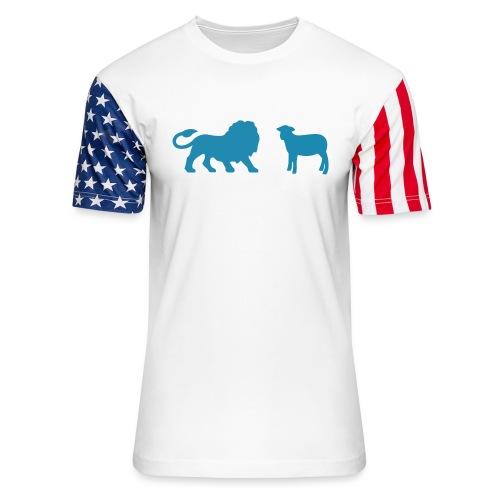 Lion and the Lamb - Unisex Stars & Stripes T-Shirt