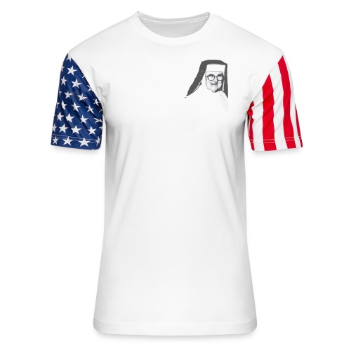 Classic Mother Angelica Light - Unisex Stars & Stripes T-Shirt