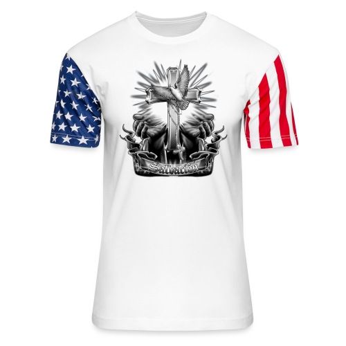 Salvacion by RollinLow - Unisex Stars & Stripes T-Shirt