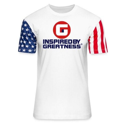 Inspired by Greatness® USA1 © All right's reserved - Unisex Stars & Stripes T-Shirt