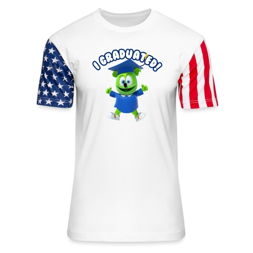 I Graduated! Gummibar (The Gummy Bear) - Unisex Stars & Stripes T-Shirt
