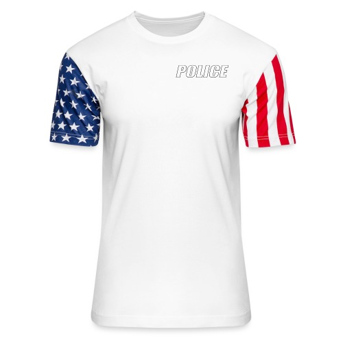 Police White - Unisex Stars & Stripes T-Shirt
