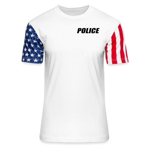 Police Black - Unisex Stars & Stripes T-Shirt