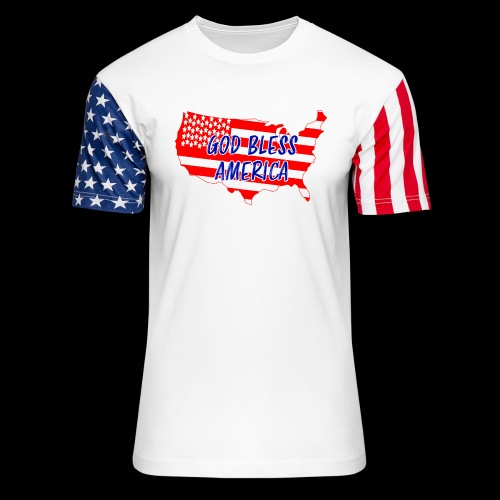 GOD BLESS AMERICA - Unisex Stars & Stripes T-Shirt