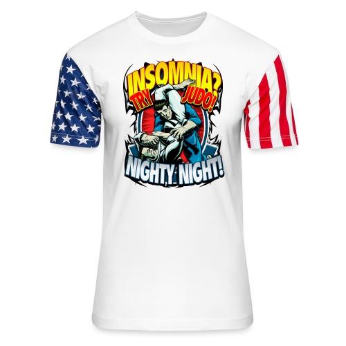 Insomnia Judo Design - Unisex Stars & Stripes T-Shirt