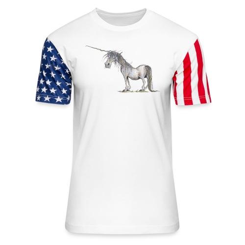 Last Unicorn - Unisex Stars & Stripes T-Shirt