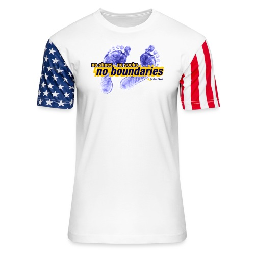 No Shoes, No Socks, No Boundaries - Unisex Stars & Stripes T-Shirt
