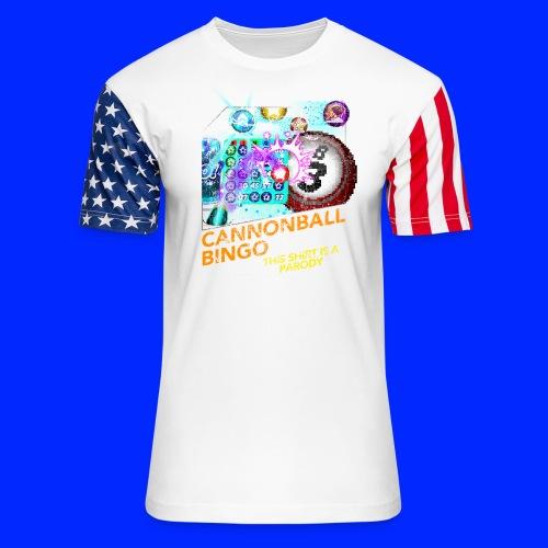 Vintage Cannonball Bingo Box Art Tee - Unisex Stars & Stripes T-Shirt