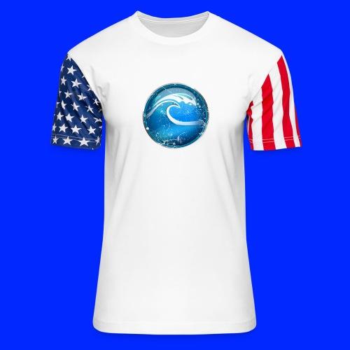Vintage Tsunami Power-Up Tee - Unisex Stars & Stripes T-Shirt