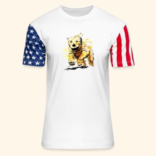 oil dog - Unisex Stars & Stripes T-Shirt