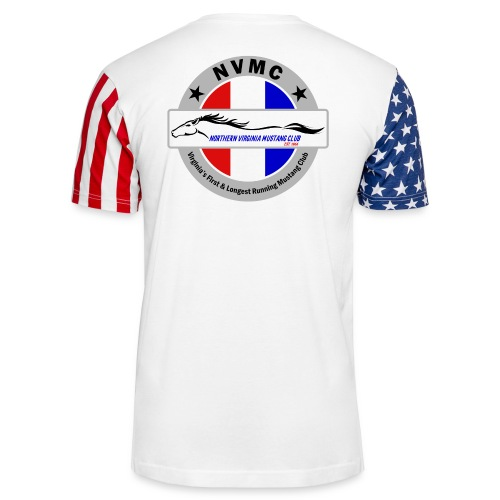 Circle logo t-shirt on silver/gray - Unisex Stars & Stripes T-Shirt