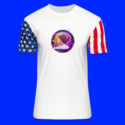 Vintage Stampede Power-Up Tee - Unisex Stars & Stripes T-Shirt