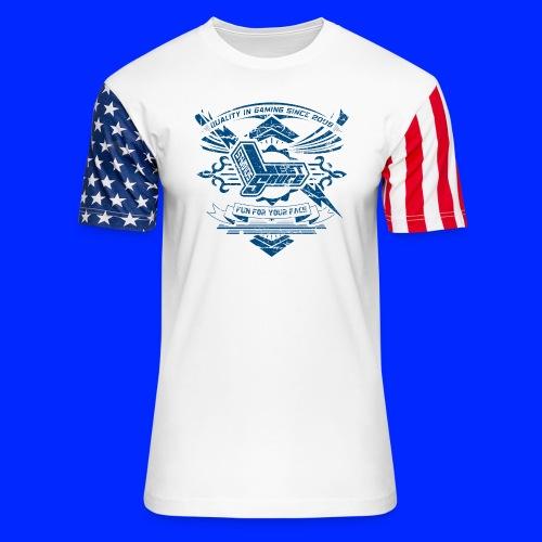 Vintage Leet Sauce Studios Crest Blue - Unisex Stars & Stripes T-Shirt