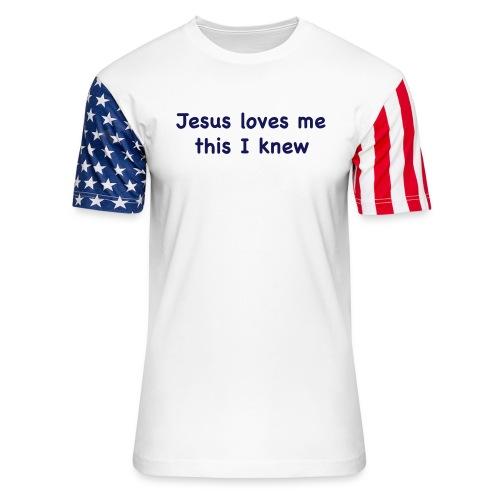 jesus loves me - Unisex Stars & Stripes T-Shirt