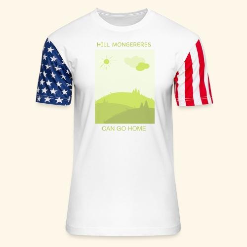 Hill mongereres - Unisex Stars & Stripes T-Shirt