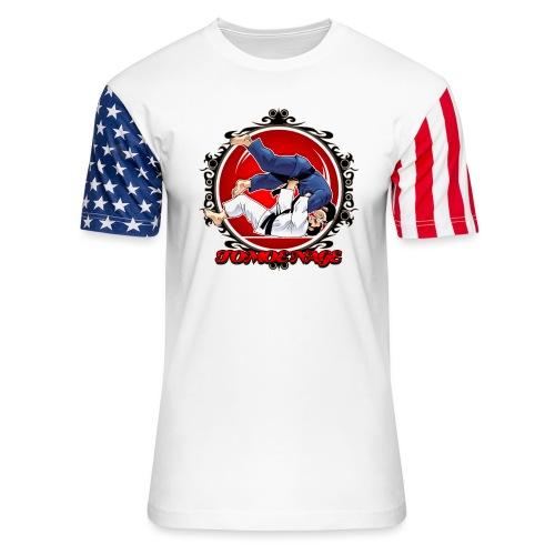 Judo Throw Tomoe Nage - Unisex Stars & Stripes T-Shirt