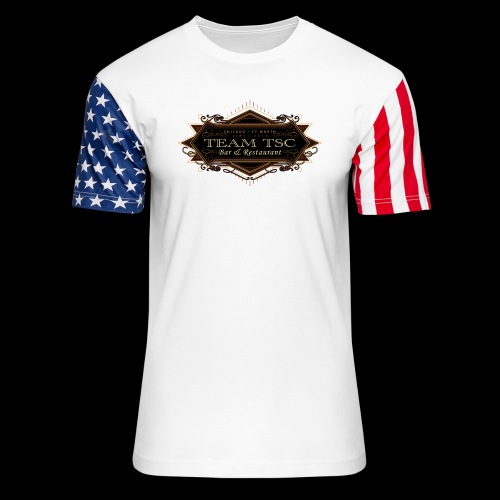 teamTSC badge03 Bar - Unisex Stars & Stripes T-Shirt