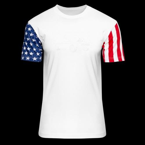 SIKEST - HJ UTE BLOWN BIG BLOCK DESIGN - Unisex Stars & Stripes T-Shirt