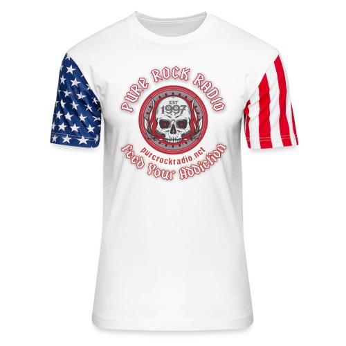 PUREROCKRADIO darkback radioflag PNG png - Unisex Stars & Stripes T-Shirt