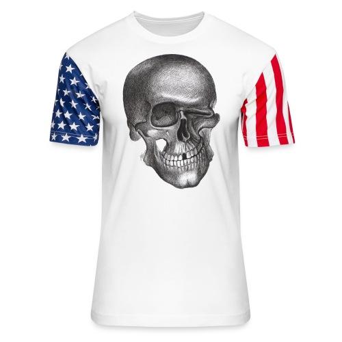 twinkle skull - Unisex Stars & Stripes T-Shirt