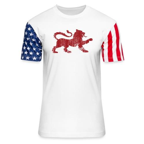 The Lion of Judah - Unisex Stars & Stripes T-Shirt