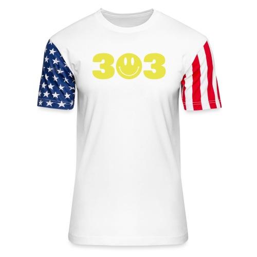 3 Smiley 3 - Unisex Stars & Stripes T-Shirt