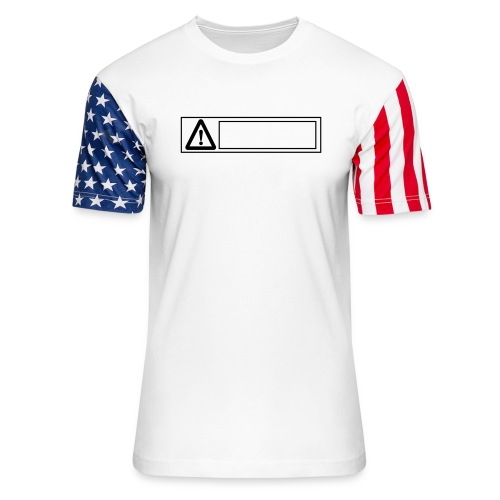 warning sign - Unisex Stars & Stripes T-Shirt
