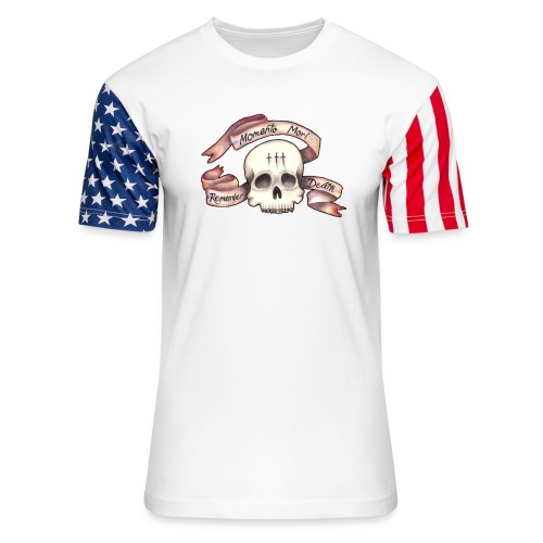 Momento Mori - Remember Death - Unisex Stars & Stripes T-Shirt