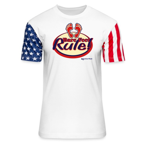 Bare Feet Rule! - Unisex Stars & Stripes T-Shirt