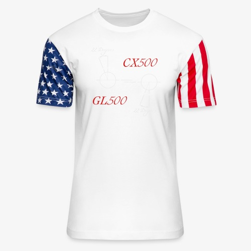 CX500 and GL500 - 22 degree twist - Unisex Stars & Stripes T-Shirt