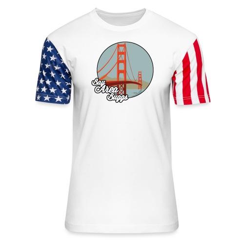 Bay Area Buggs Bridge Design - Unisex Stars & Stripes T-Shirt